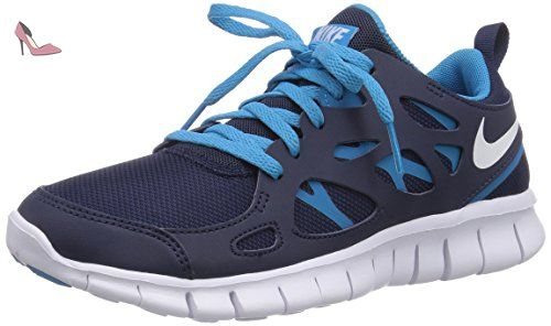 Nike Free Run 2 (gs), Running Entrainement Garçon - Bleu (midnight Navy