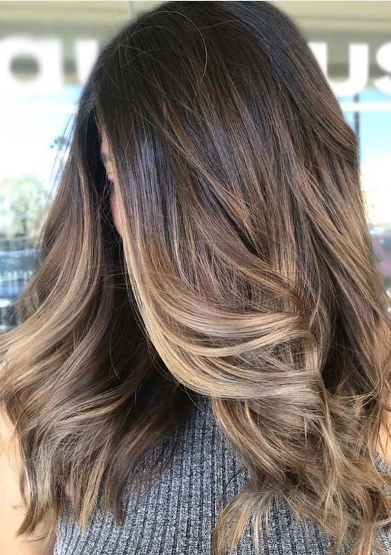 10 Delicate Spring Hair Color For Brunettes Balayage 2019 ...
