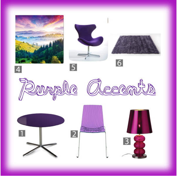 Add some purple into your life by adding some of these items. #interiordesign #purple http://www.polyvore.com/purple_accents/set?id=194120528