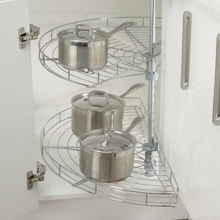Half Carousel Set For Kitchen Cupboard   Pull Out Wire Storage £97