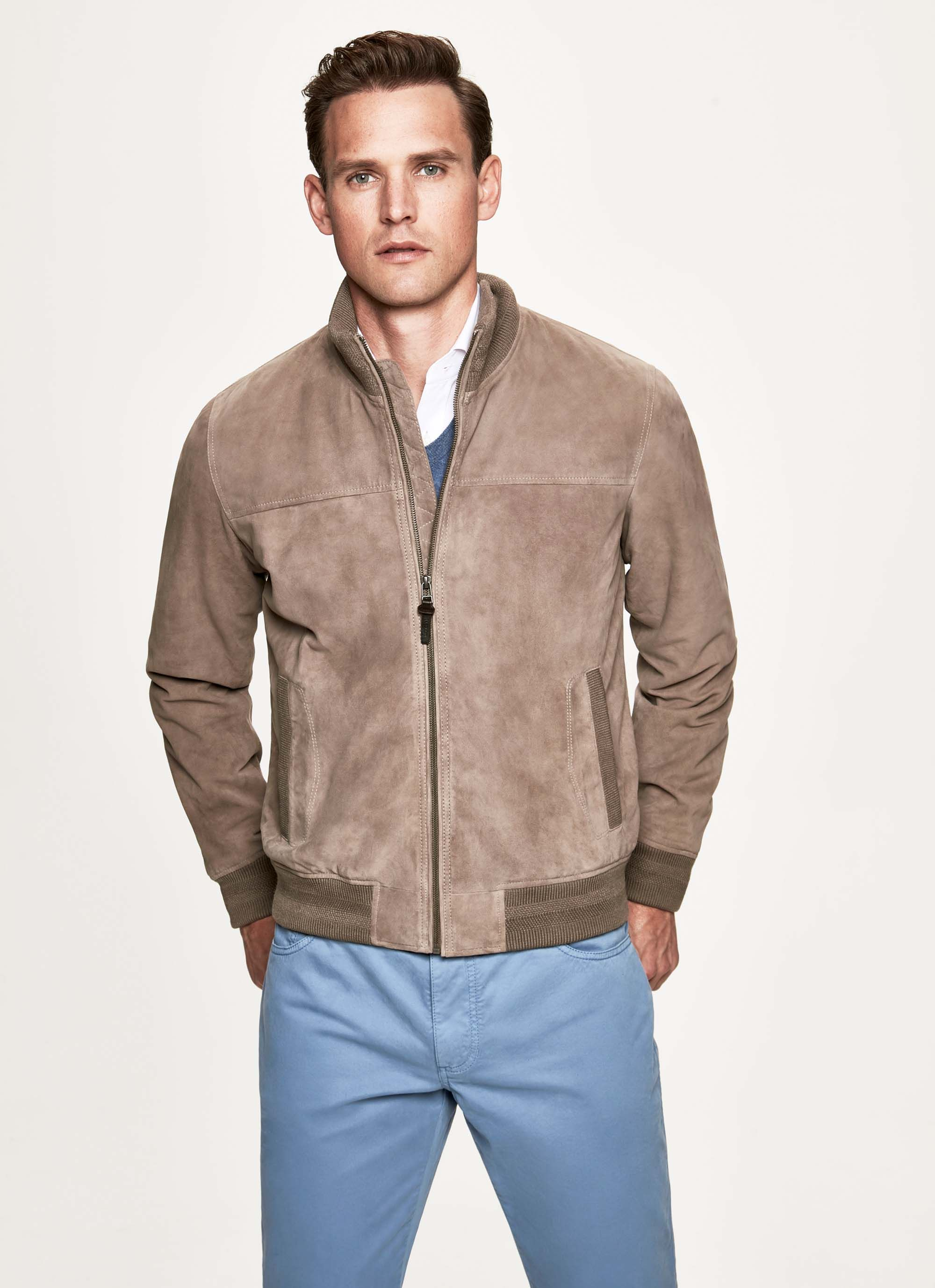 Hackett Suede Bomber Jacket Hackett Cloth Captain America Leather Jacket Jackets Suede Bomber Jacket [ 2756 x 2000 Pixel ]