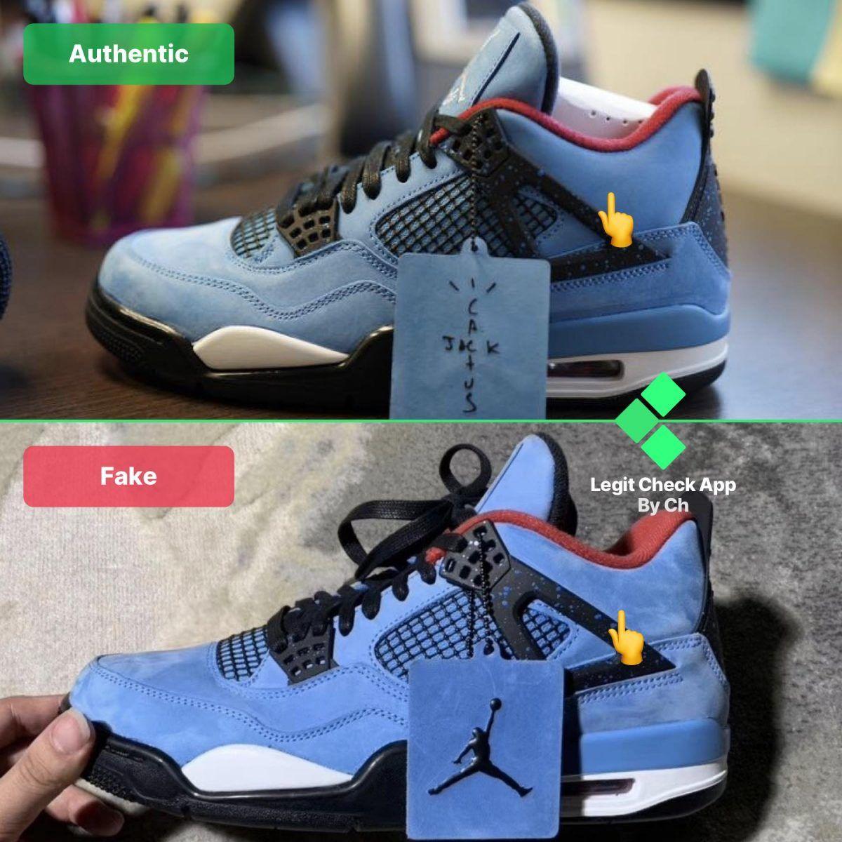 10 Travis Scott Air Jordan 4 Blue Real