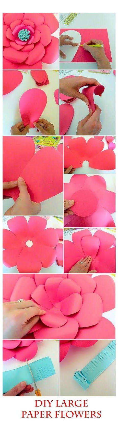 Mama's Gone Crafty: Easy Method When Building any DIY Giant Paper Flower #flowerdiy