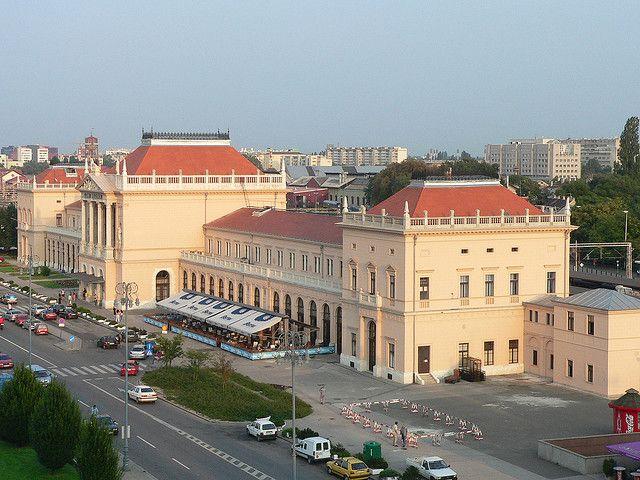 Zagreb Train Station From The Esplanade Zagreb Train Station Croatia