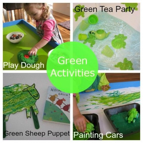 Learning Colours Green Color Activities Preschool Colors Green Activities Green colour theme for preschool