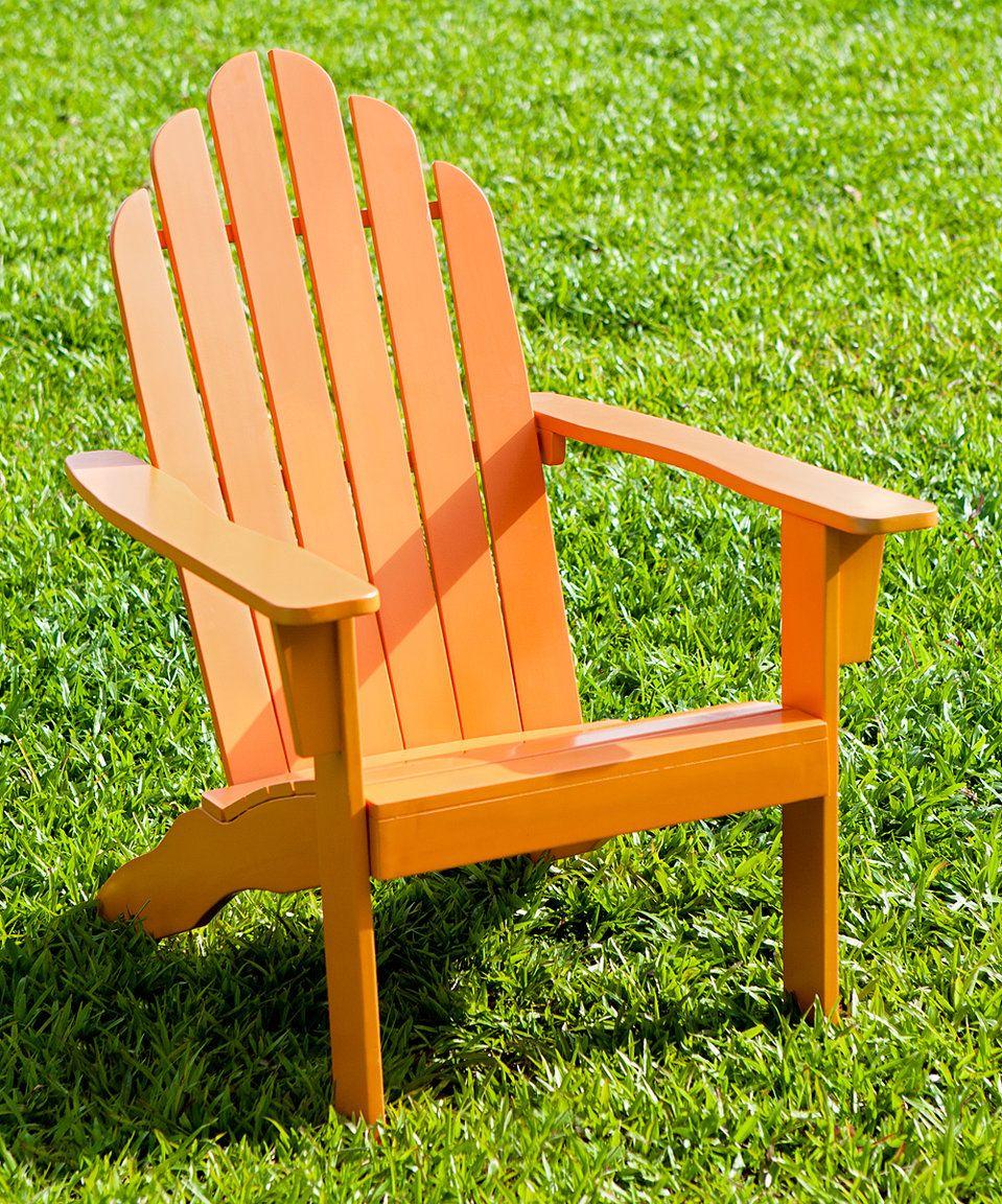 Take a look at this orange adirondack chair today orange