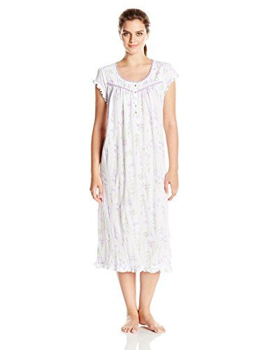 Eileen West Womens CapSleeve Modal Jersey Knit Nightgown Lilac Small -- You  can get more 304793f7c