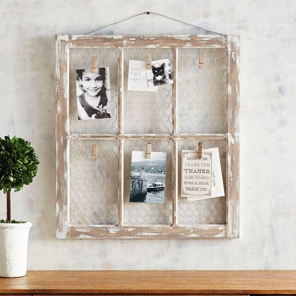 Pier 1 imports blynn 6 clip wall photo frame 30 ❤ liked on