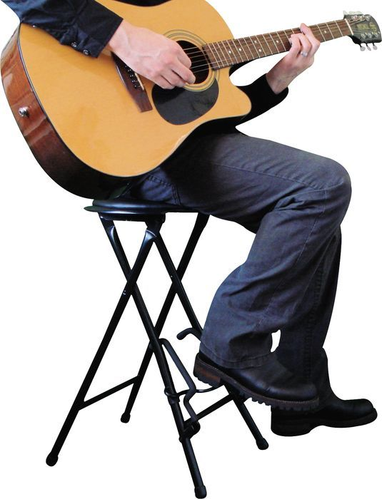 Alfred Stageplayer Ii Guitarist Stool And Stand With Footrest Guitar Stand Guitar Foot Rest