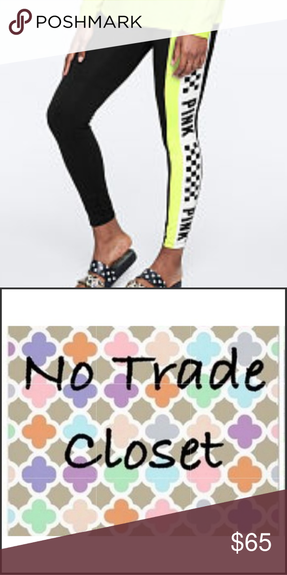 8a6bd9caa1c654 🚨Final Price No Offers/Holds Please NWT Size L Neon Green Cotton Leggings  Price is FIRM no offers or discounts on this item PINK Victoria's Secret  Pants ...