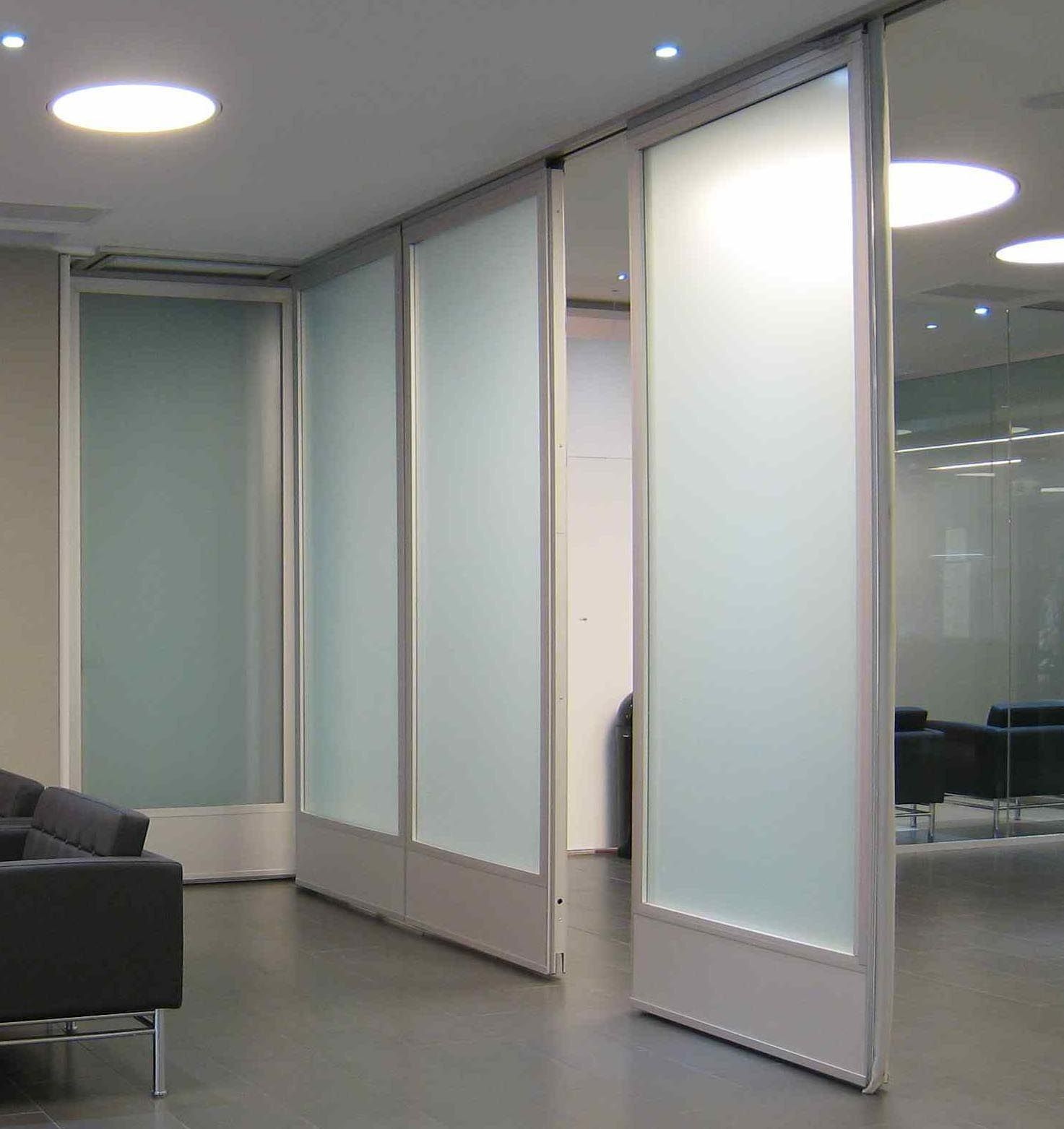 Residential accordion room dividers room dividers for Sliding door partition wall
