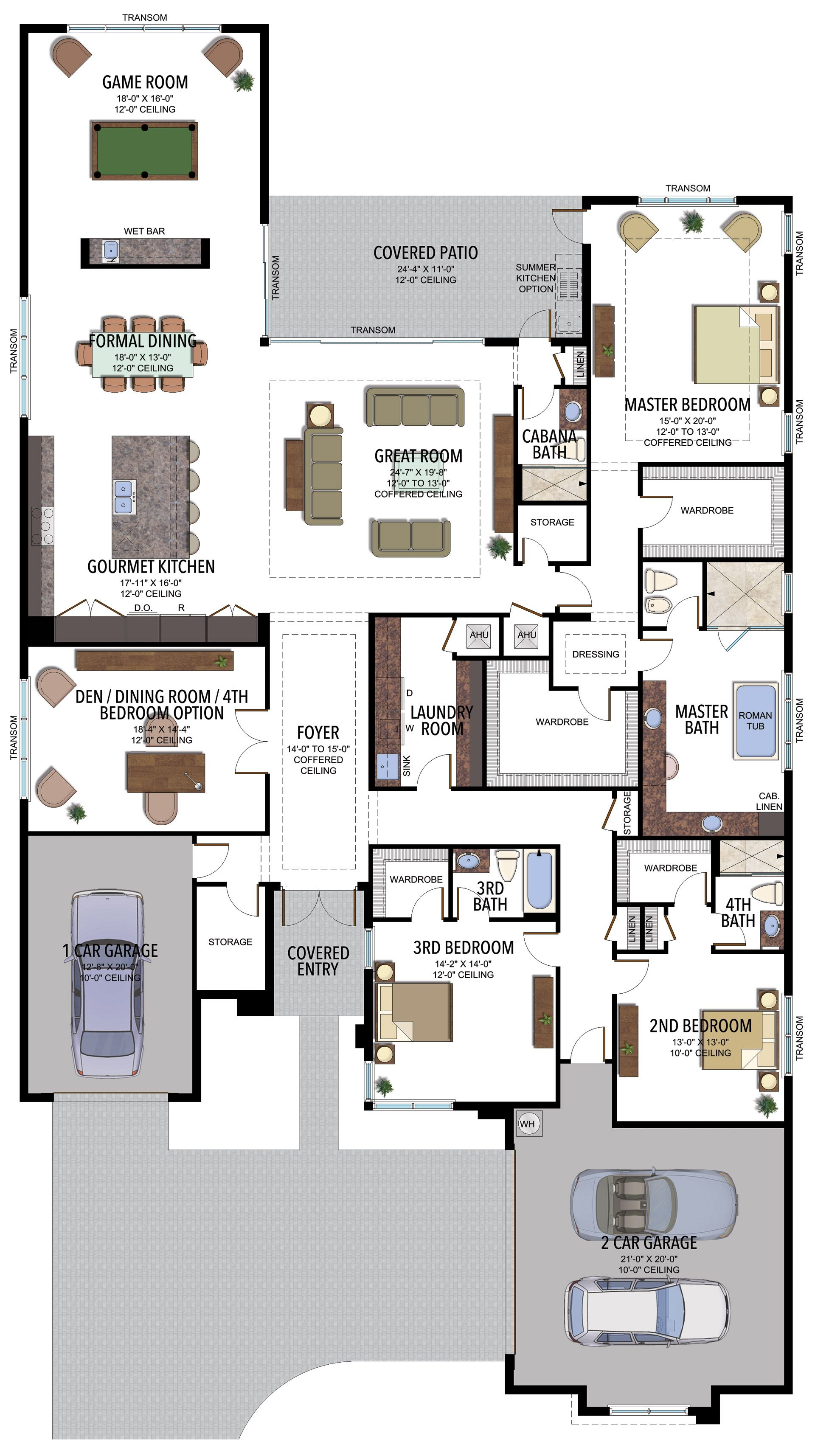 Murano Contemporary 760c Florida Real Estate Gl Homes House Layout Plans New House Plans House Plans