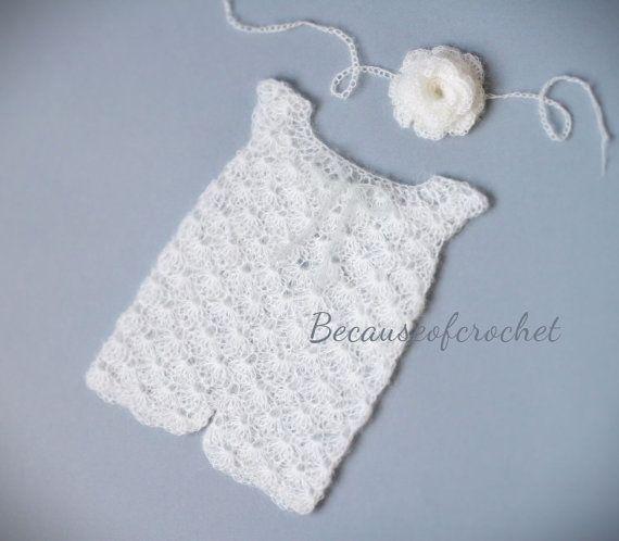 PDF Crochet PATTERN Newborn Baby Romper and by becauseofcrochet ...