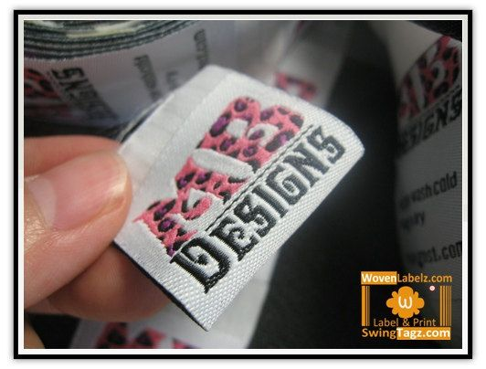 300 pieces label Art logo design damask woven label by BasicLabel, $70.00