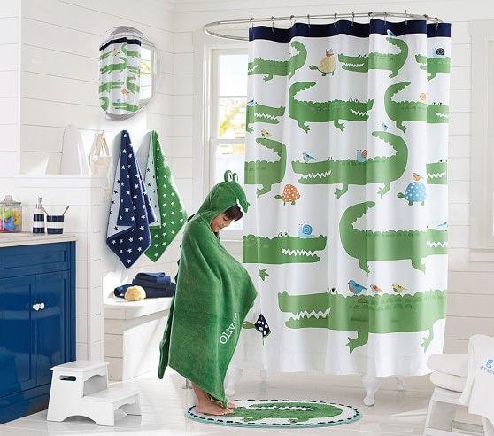 alligator shower curtain kids shower