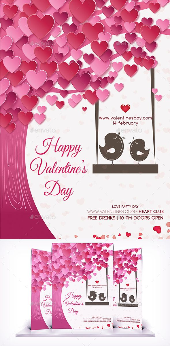 Valentines Day Love Flyer Valentine Day Love Valentine Day Cards Valentines Party