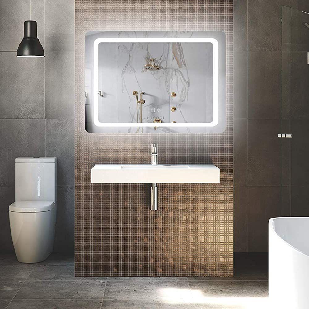 Luvodi Led Badspiegel Mit Beleuchtung Wandspiegel Touchschalter