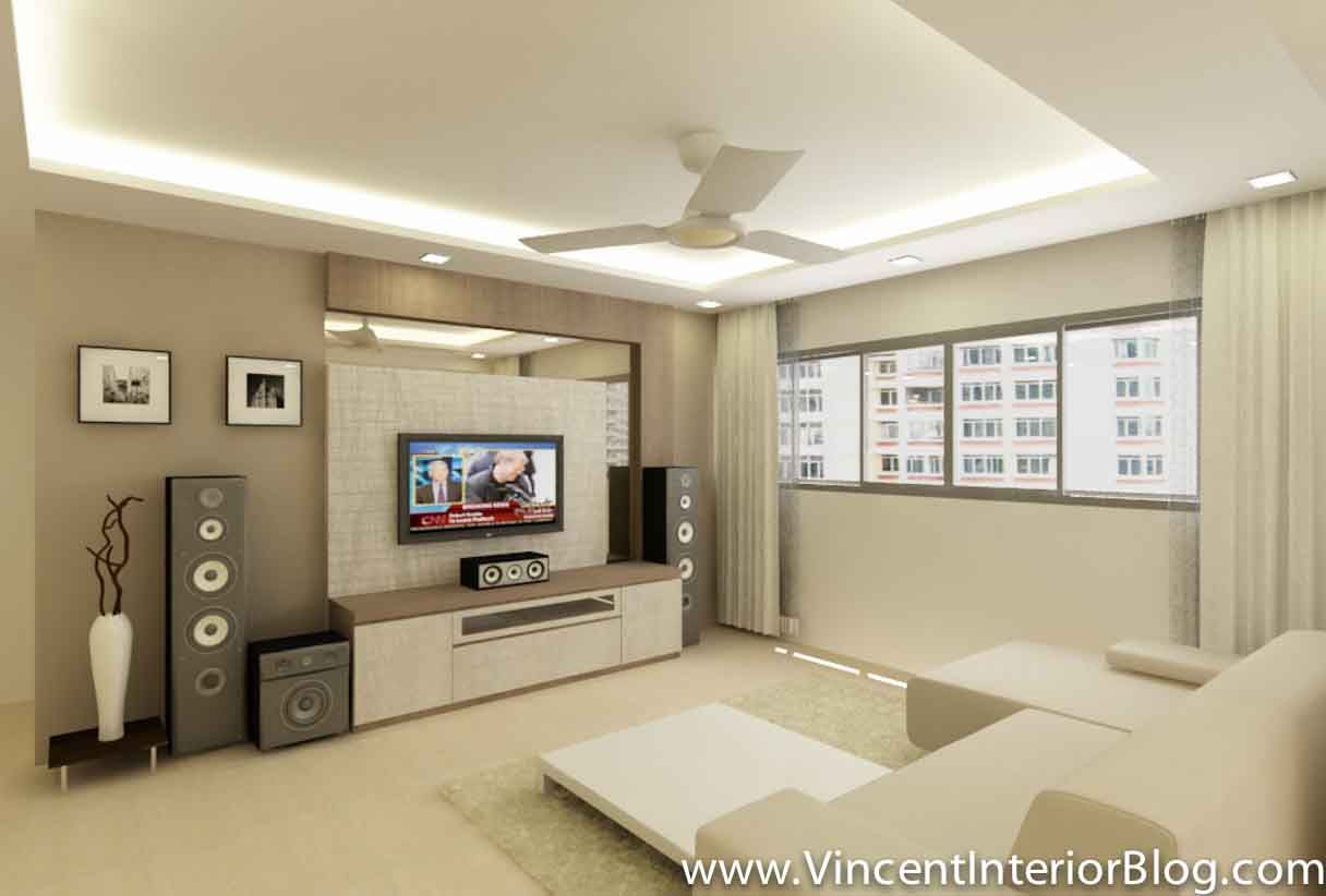 5 Room Hdb Yishun Renovation Interior Design Behome Design Concept Perspective 21 Living Room
