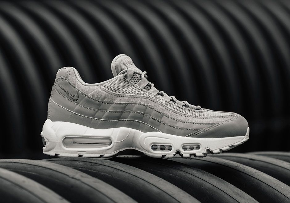 watch 2c532 49501 The Nike Air Max 95 Cobblestone Grey (Style Code: 538416-005) is now  available for $170 USD featuring a light grey to dark grey gradient. More  details here: