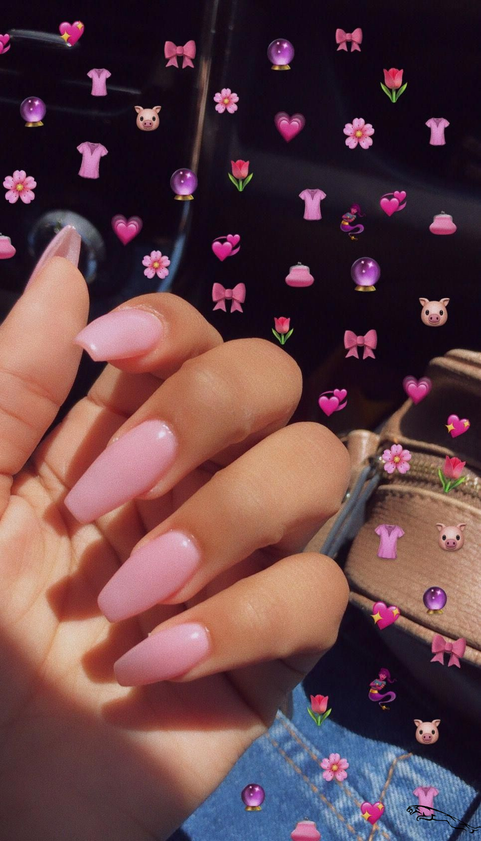 Pink #acrylic coffin nails. #cute nail #inspo for this summer. #AcrylicNails