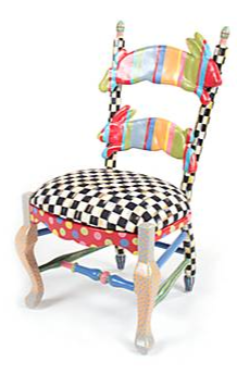 The MacKenzie Childs Rabbit Chair Features An Upholstered Seat And Hand  Painted Pair Of Rabbits. Uses Non Toxic Paints And Child Safety Tested.