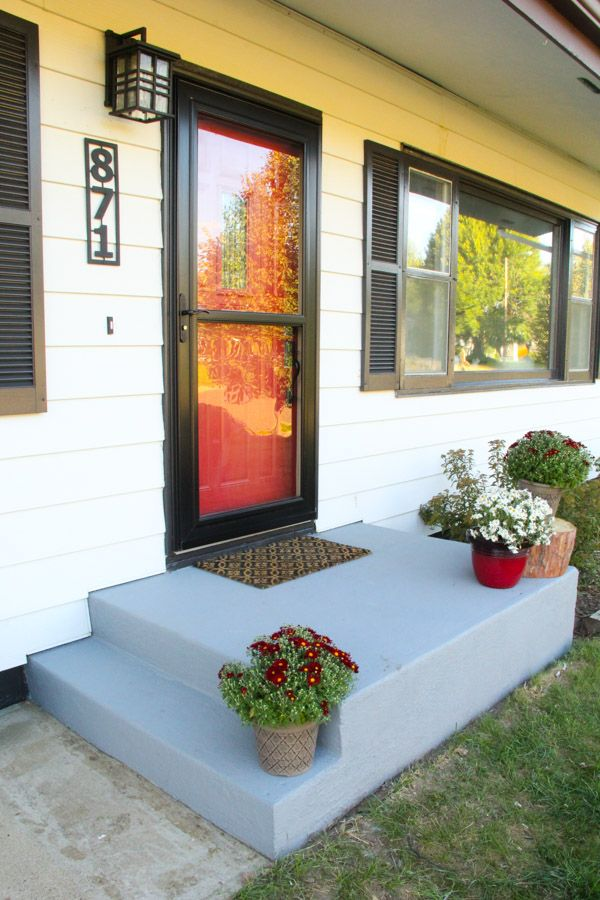 An Affordable Porch Makeover Porch Makeover Painted Patio