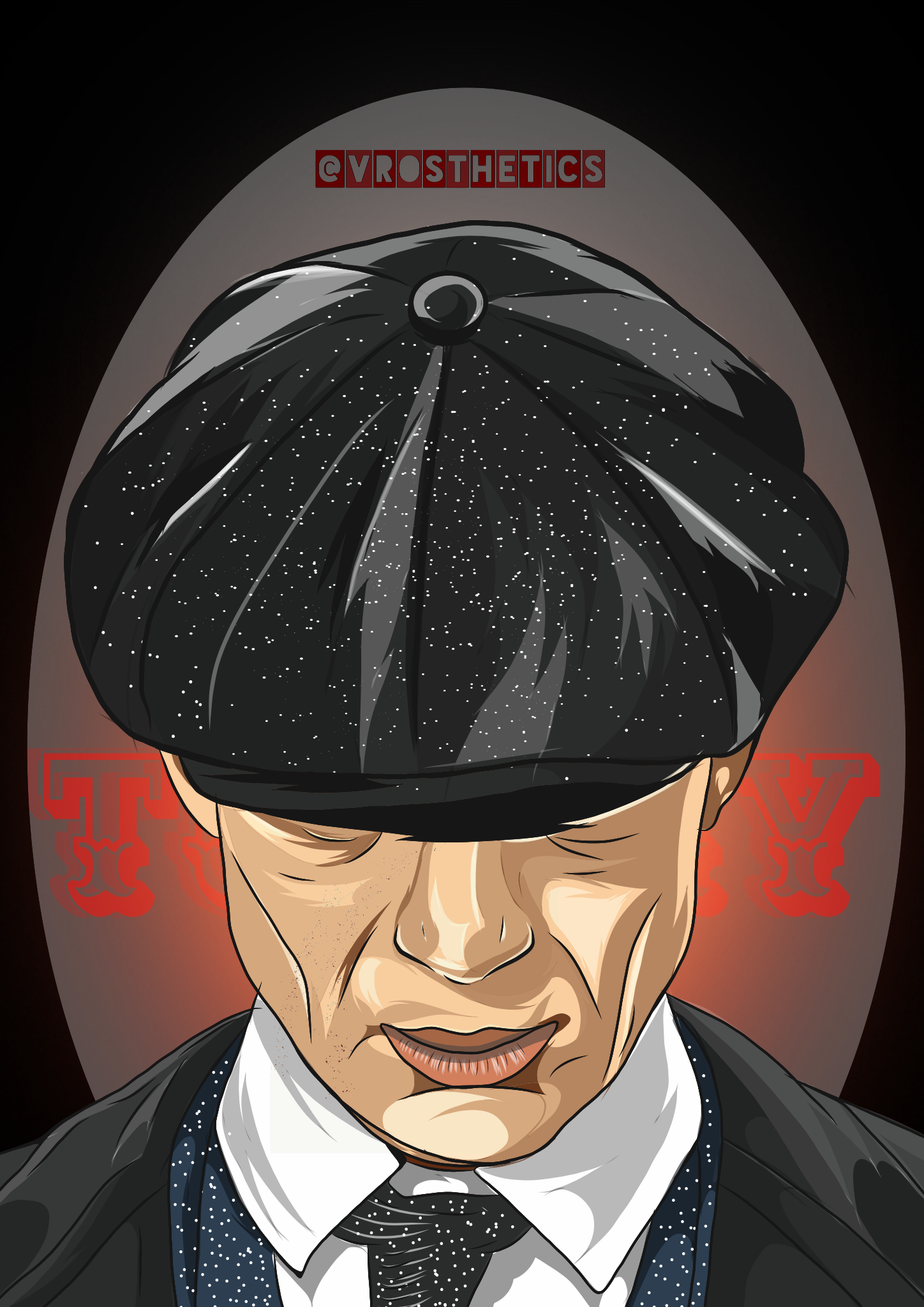 Vectoe artwork of Tommy Shelby