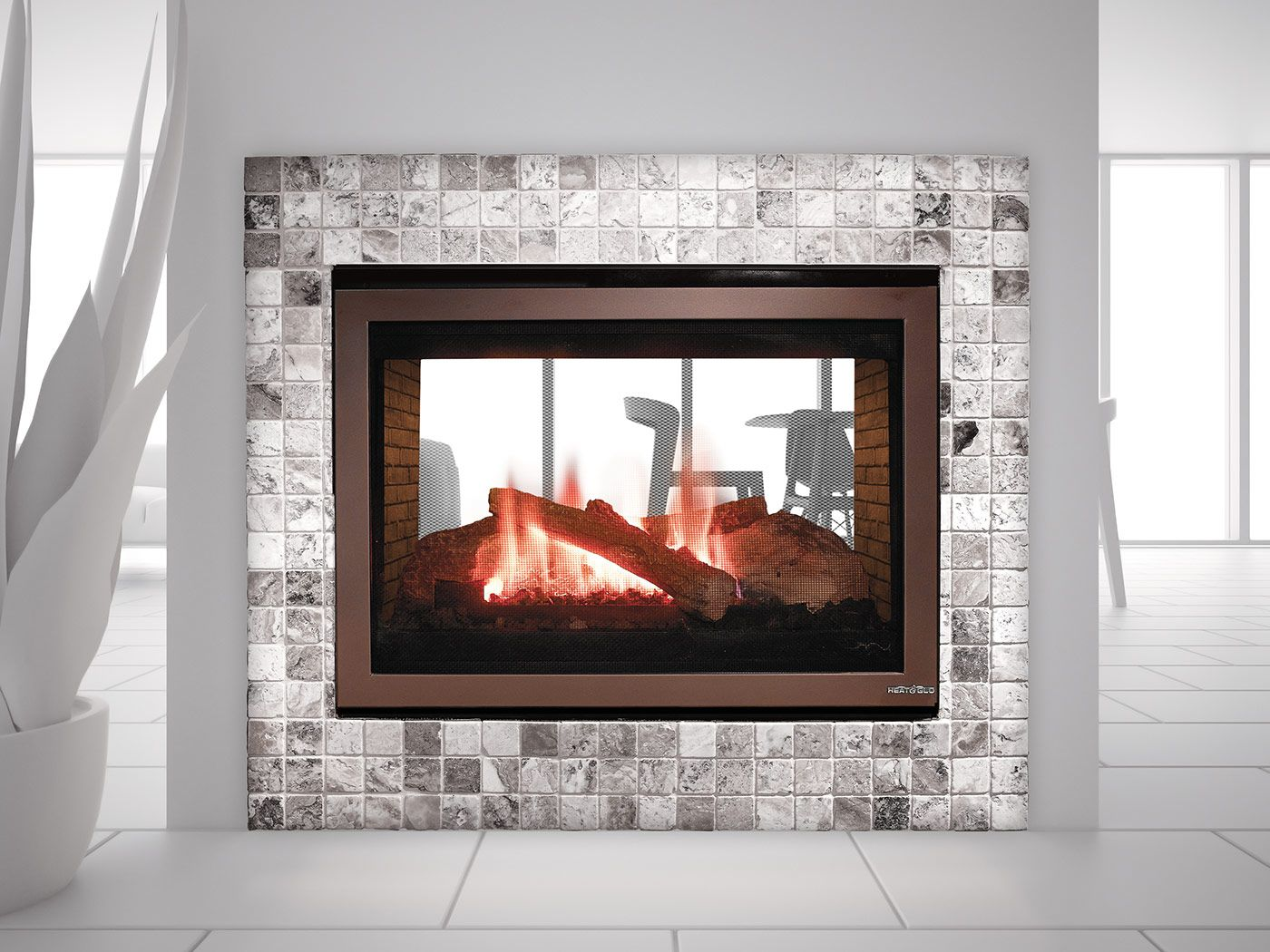 15 Deep 3750 Heat And Glo St 550t See Through Gas Fireplace