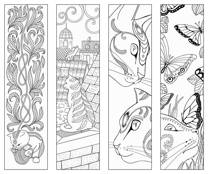 Cat Box And Bookmark Pad On Behance Coloring Bookmarks Coloring Pages Coloring Book Pages