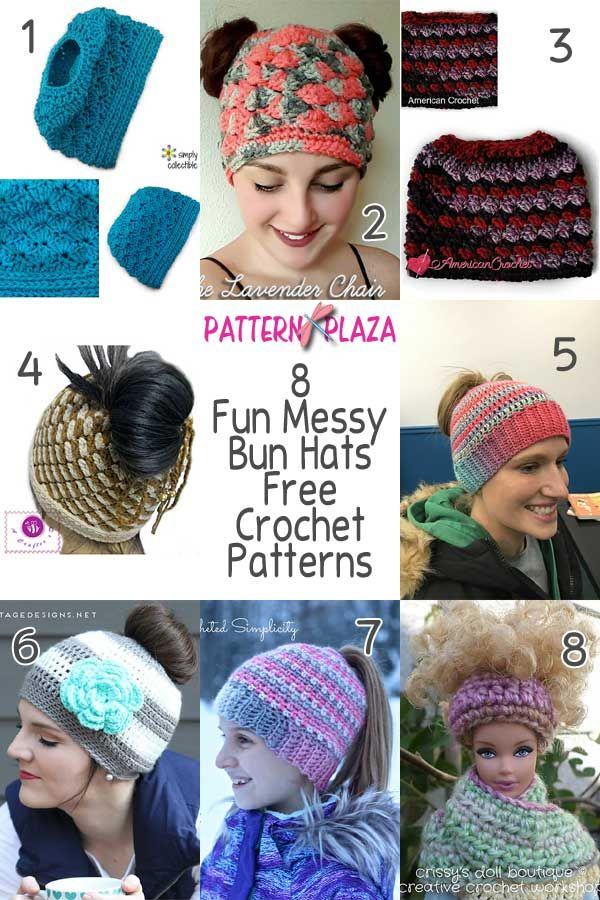 a6bef8e9b0e These fun messy bun hats are part of the hottest trending crochet madness  that has hit the internet! These are fun and easy to make!