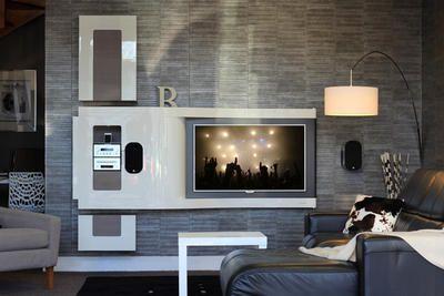 meuble tv wave chris-b-design (2) | mur tv & mur meubles ... - Meuble Tv Encastrable Design