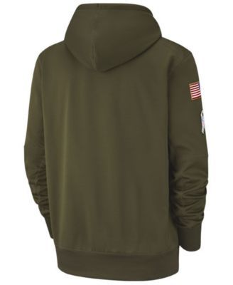 722d5e985 Nike Men s New England Patriots Salute To Service Therma Hoodie - Green XXL
