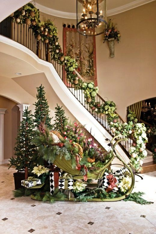 checkout our collection of 25 christmas staircase decoration ideas