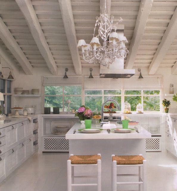 Un cocina Blanca / A White Kitchen DESDE MY VENTANA casa