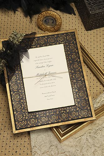 Deckled in Gold Invitation with DIY Emblishment (FJ1246-99 - Candlelight Beginnings) #CarlsonCraft