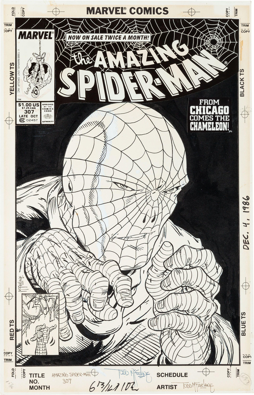 Amazing Spider Man 307 Cover By Todd Mcfarlane Desenho Estilizado Desenho Os Originais