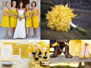 Vestidos de novia con un toque de color amarillo 6