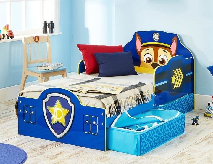Paw Patrol Chase Toddler Bed With Storage 119 Very Toddler