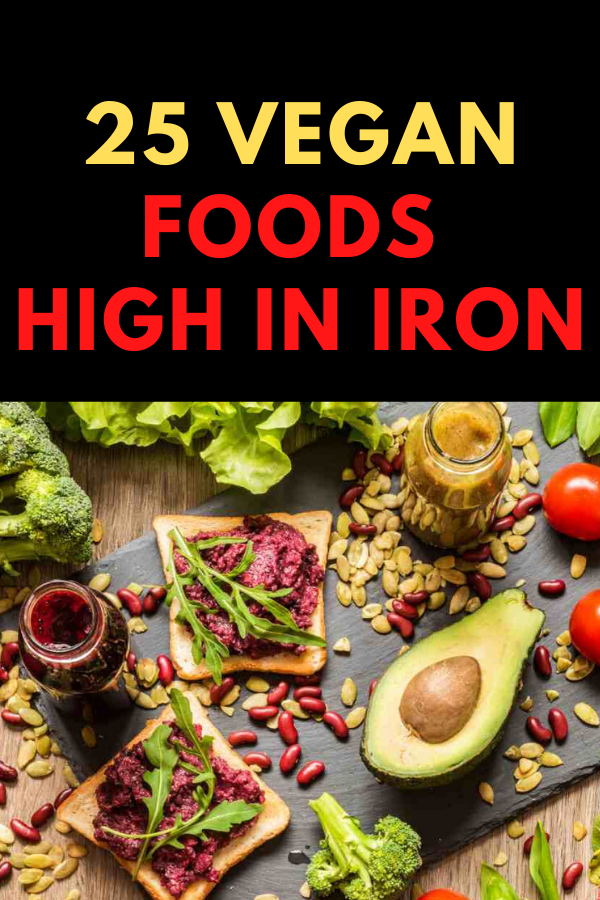 25 Vegan Foods High In Iron To Fight Iron Deficiency in