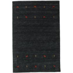 Photo of Gabbeh loom Two Lines – Schwarz / grau Teppich 160×230 Orientteppich RugvistaRugvista