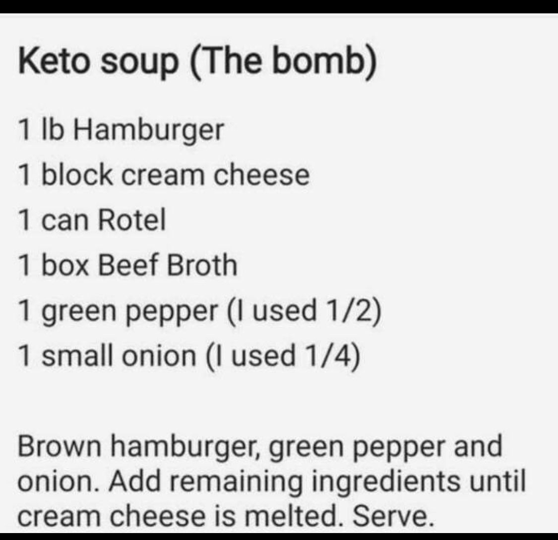 Keto Soup The Bomb Keto Soup Stuffed Green Peppers Ground Beef Keto Recipes