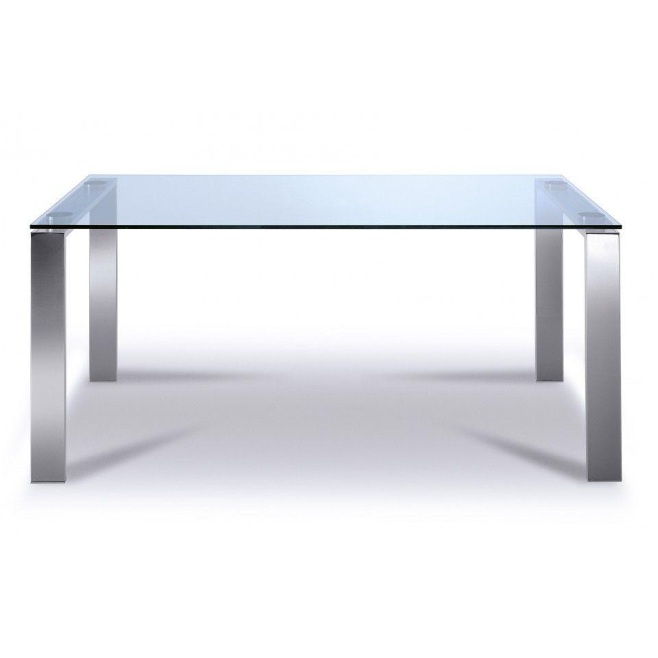 Rechthoekige Glazen Tafel.Glazentafel Com Glazen Eettafel Valencia 400 Series Luxe