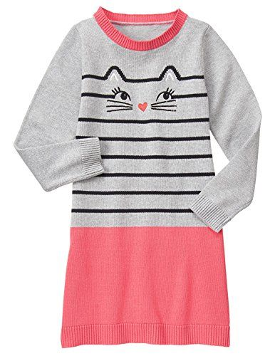 NWT Gymboree Kitty in Pink Kitty Face Sweater Dress 4T or 5T