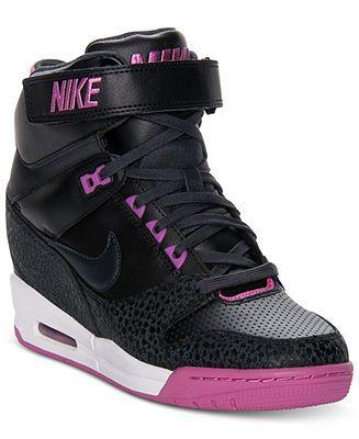 e65ad3b392d Nike Women's Shoes, Air Revolution Sky Hi Casual Wedge Sneakers ...