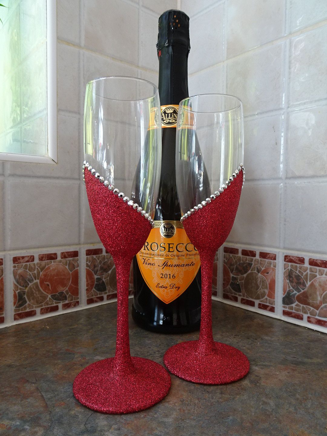 Your Place To Buy And Sell All Things Handmade Wedding Champagne Flutes Glitter Wine Glass Sparkly Wedding