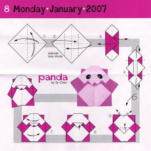 very easy origami cranepanda bear   Step by Step Origami ... - photo#15
