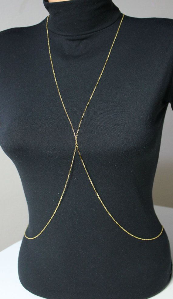 MILEY CYRUS inspired Gold Plated Body Chain von HelloSprings c48c47e71ea