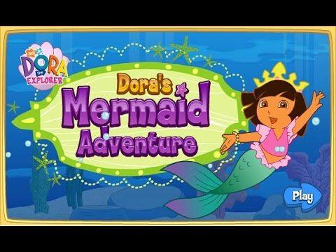 [HD] 도라 익스플로러 인어공주 모험 게임 Dora's the explorer Mermaid adventure game nick...