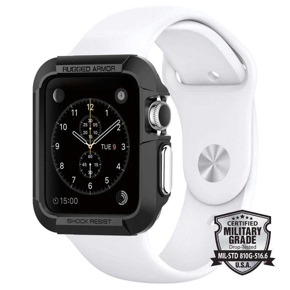 Apple Watch Series 3 2 1 42mm Case Rugged Armor Apple Watch Accessories Apple Watch Case Best Apple Watch