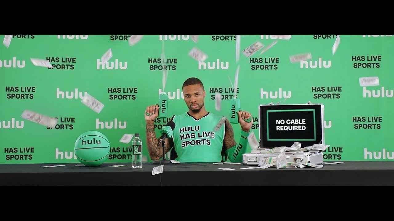 """Damian Lillard's """"Hulu has live sports"""" Tattoo • Hulu"""